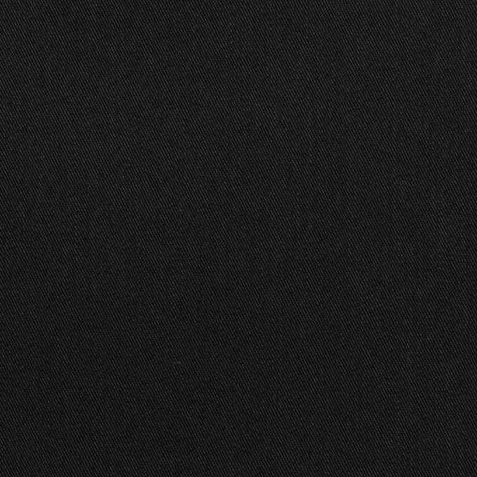 コットン&ポリエステル混×無地(ブラック)×サージストレッチ イメージ1