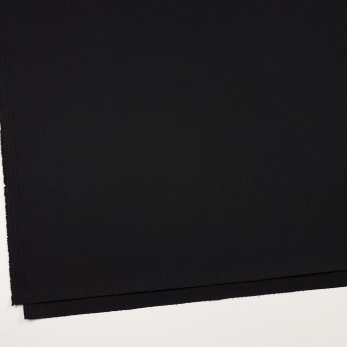 コットン&ポリエステル混×無地(ブラック)×チノクロス・ストレッチ イメージ2