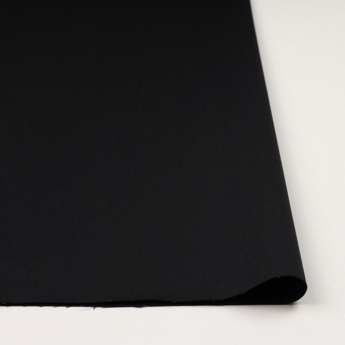 コットン&ポリエステル混×無地(ブラック)×チノクロス・ストレッチ イメージ3