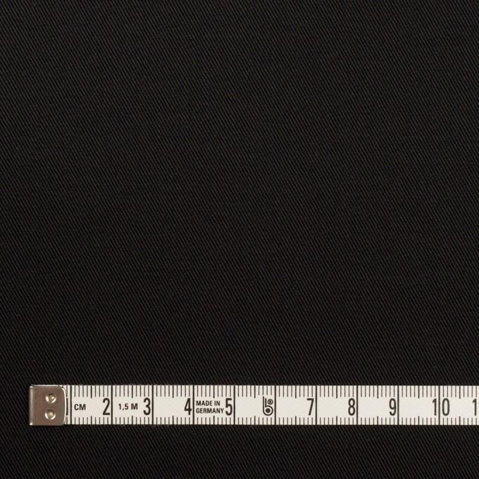 コットン&ポリエステル混×無地(ブラック)×チノクロス・ストレッチ イメージ4