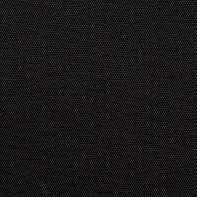 コットン&ポリエステル混×無地(ブラック)×チノクロス・ストレッチ イメージ1