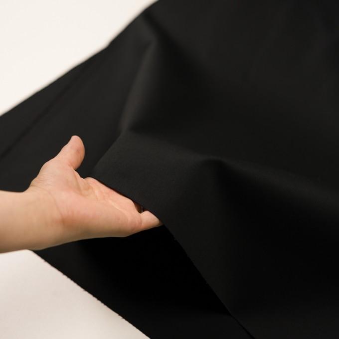 コットン&ポリエステル混×無地(ブラック)×チノクロス・ストレッチ イメージ5