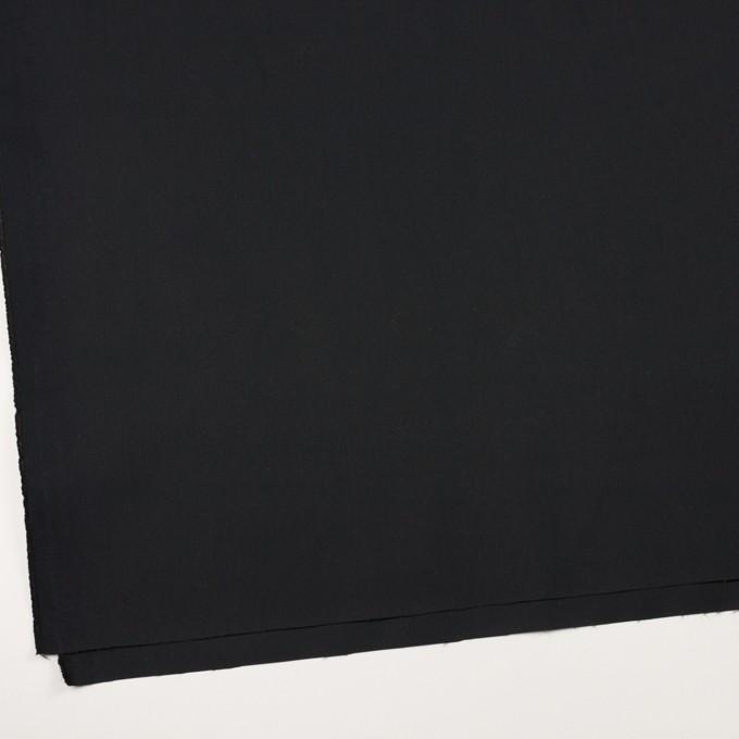 コットン&ナイロン×無地(ブラック)×サージ イメージ2