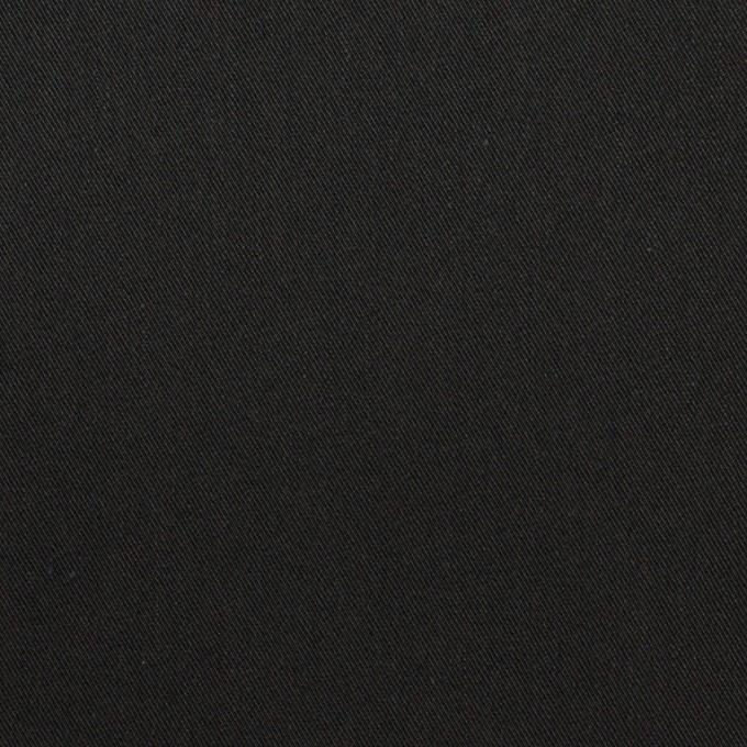 コットン&ナイロン×無地(ブラック)×サージ イメージ1