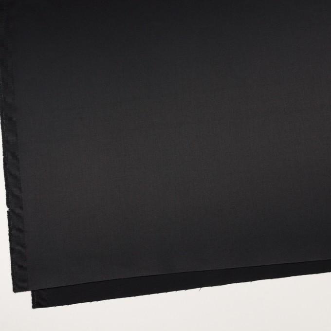 コットン&レーヨン混×無地(ブラック)×サテンストレッチ イメージ2