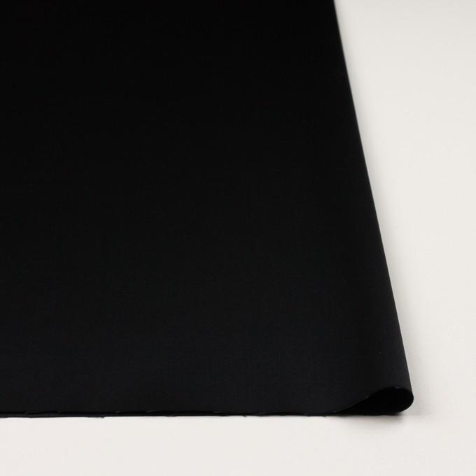 コットン&レーヨン混×無地(ブラック)×サテンストレッチ イメージ3