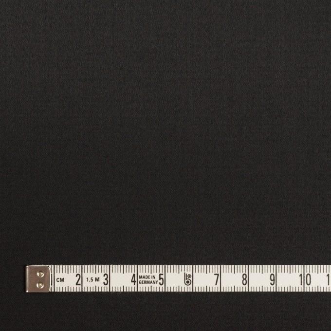 コットン&レーヨン混×無地(ブラック)×サテンストレッチ イメージ4
