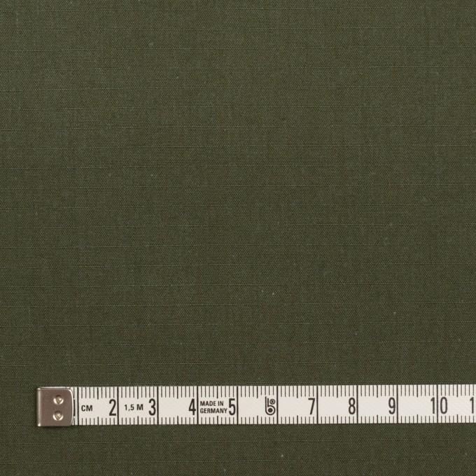 コットン&アクリル×無地(カーキグリーン)×リップストップ イメージ4