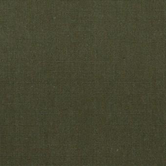 コットン&アクリル×無地(カーキグリーン)×リップストップ