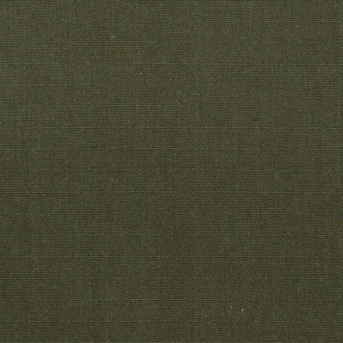 コットン&アクリル×無地(カーキグリーン)×リップストップ イメージ1