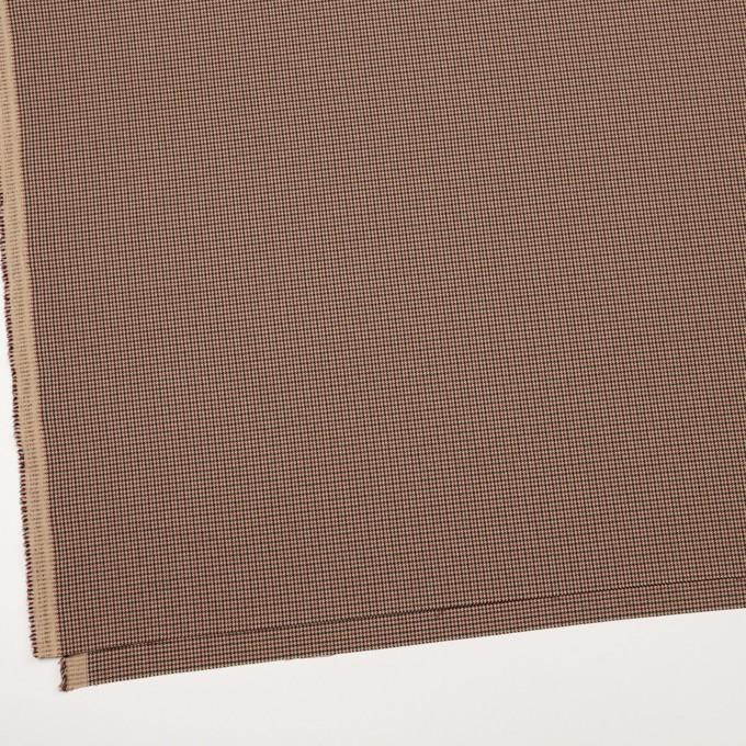 ポリエステル&レーヨン混×チェック(ベージュ)×千鳥格子ストレッチ_全3色 イメージ2