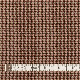 ポリエステル&レーヨン混×チェック(ベージュ)×千鳥格子ストレッチ_全3色 サムネイル4