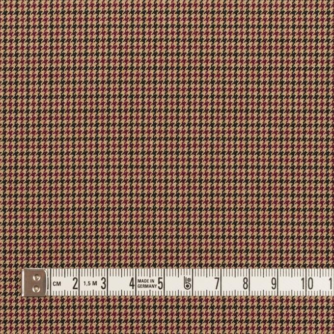 ポリエステル&レーヨン混×チェック(ベージュ)×千鳥格子ストレッチ_全3色 イメージ4