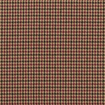 ポリエステル&レーヨン混×チェック(ベージュ)×千鳥格子ストレッチ_全3色