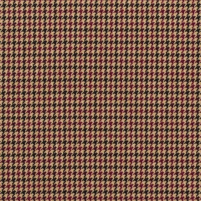 ポリエステル&レーヨン混×チェック(ベージュ)×千鳥格子ストレッチ_全3色 イメージ1
