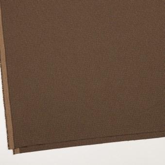 ポリエステル&レーヨン混×チェック(オークル)×千鳥格子ストレッチ_全3色 サムネイル2