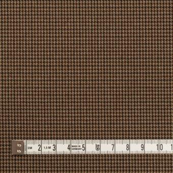 ポリエステル&レーヨン混×チェック(オークル)×千鳥格子ストレッチ_全3色 サムネイル4
