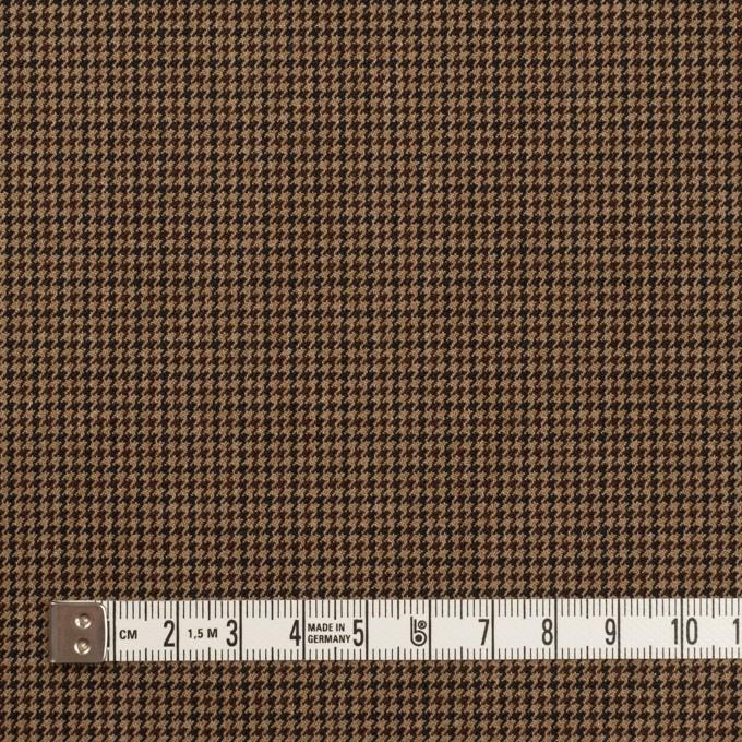 ポリエステル&レーヨン混×チェック(オークル)×千鳥格子ストレッチ_全3色 イメージ4