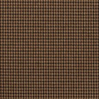 ポリエステル&レーヨン混×チェック(オークル)×千鳥格子ストレッチ_全3色