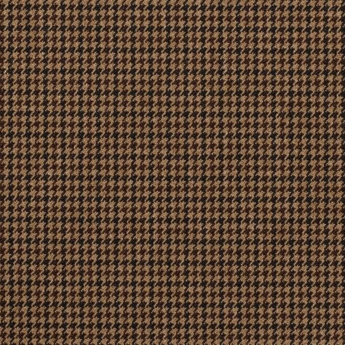 ポリエステル&レーヨン混×チェック(オークル)×千鳥格子ストレッチ_全3色 イメージ1