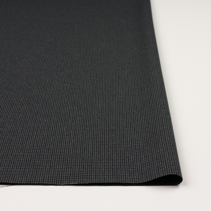 ポリエステル&レーヨン混×チェック(チャコールグレー)×千鳥格子ストレッチ_全3色 イメージ3