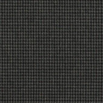 ポリエステル&レーヨン混×チェック(チャコールグレー)×千鳥格子ストレッチ_全3色