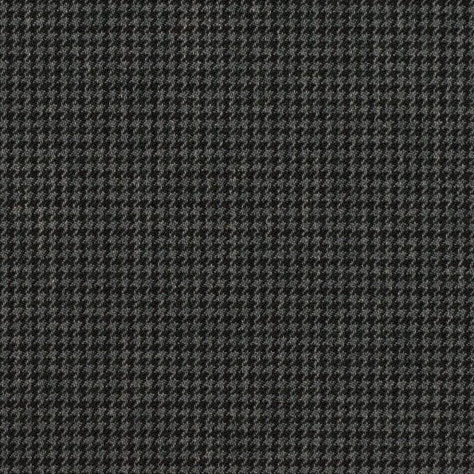 ポリエステル&レーヨン混×チェック(チャコールグレー)×千鳥格子ストレッチ_全3色 イメージ1