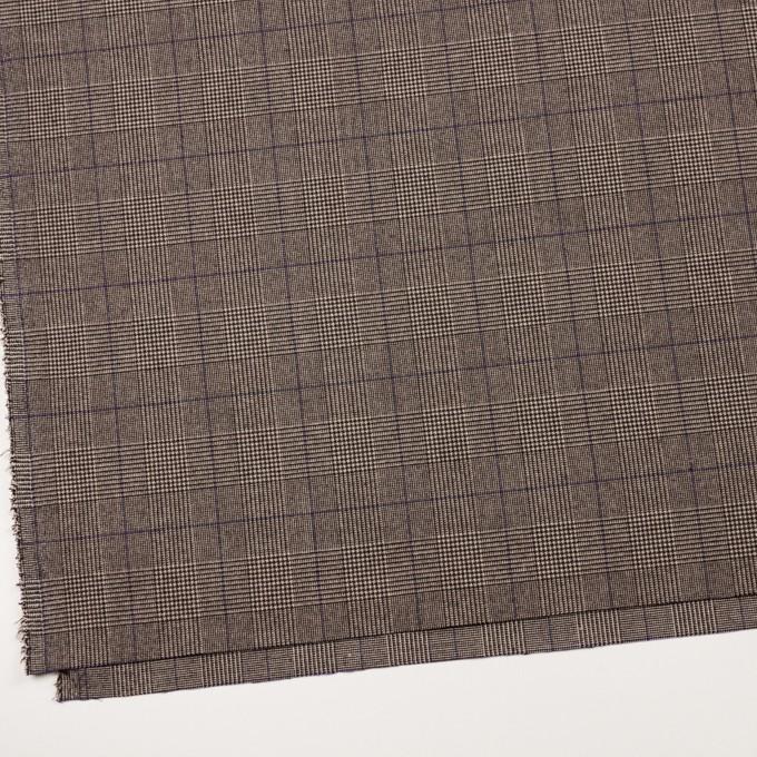 ポリエステル&レーヨン混×チェック(アッシュブラウン)×サージストレッチ_全2色 イメージ2