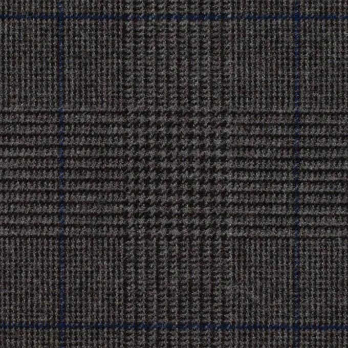ポリエステル&レーヨン混×チェック(チャコールグレー)×サージストレッチ_全2色 イメージ1