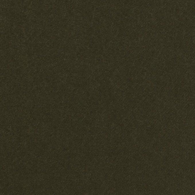 コットン×無地(ダークカーキグリーン)×モールスキン イメージ1