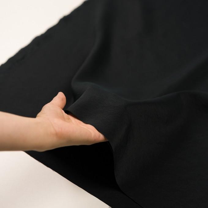 シルク&ナイロン×無地(ブラック)×ポプリンワッシャー イメージ5