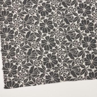 ウール×フラワー(チャコールグレー)×ガーゼ刺繍_全2色 サムネイル2