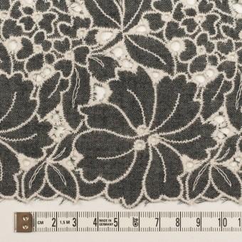 ウール×フラワー(チャコールグレー)×ガーゼ刺繍_全2色 サムネイル6