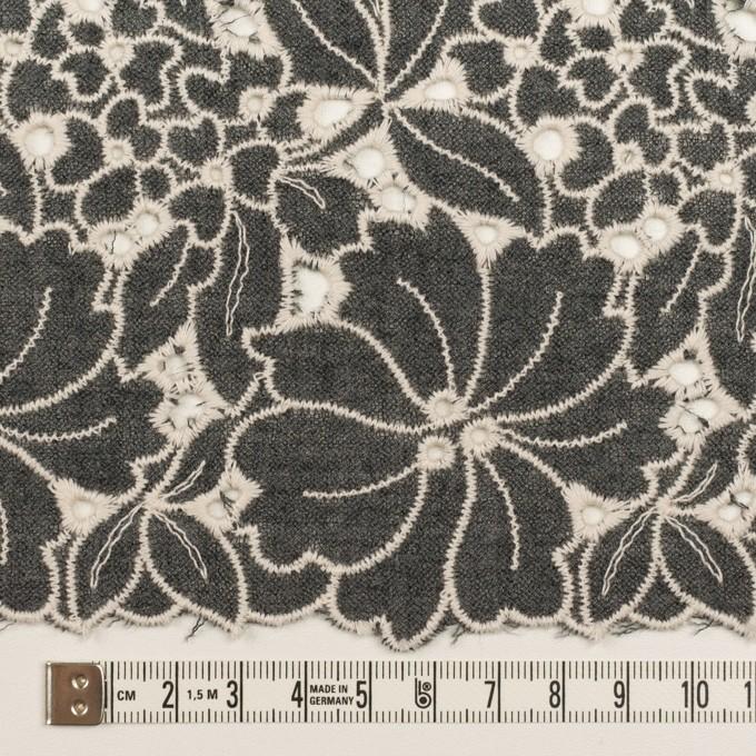 ウール×フラワー(チャコールグレー)×ガーゼ刺繍_全2色 イメージ6