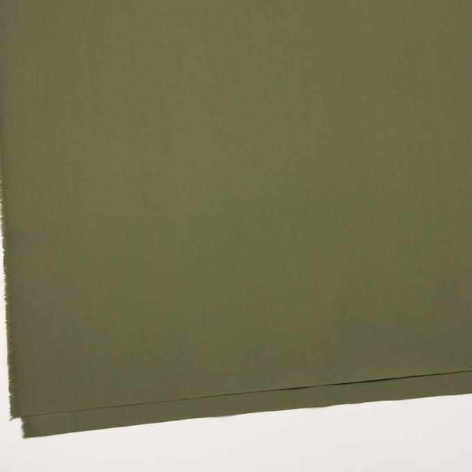 コットン&ポリウレタン×無地(カーキグリーン)×ブロードストレッチ_全2色 イメージ2