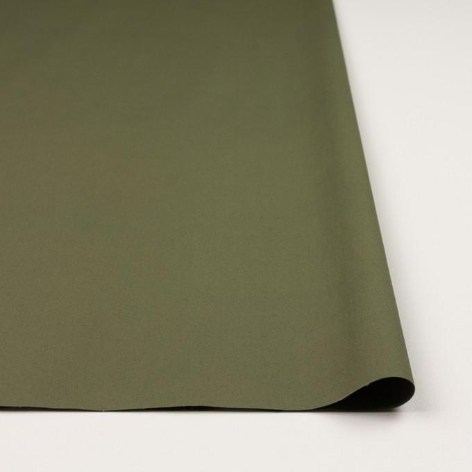 コットン&ポリウレタン×無地(カーキグリーン)×ブロードストレッチ_全2色 イメージ3