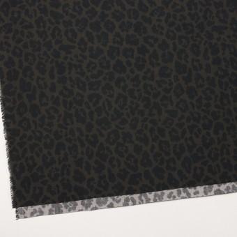 レーヨン×レオパード(ダークカーキグリーン&チャコール)×ポプリン サムネイル2