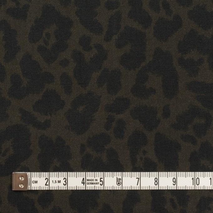 レーヨン×レオパード(ダークカーキグリーン&チャコール)×ポプリン イメージ4