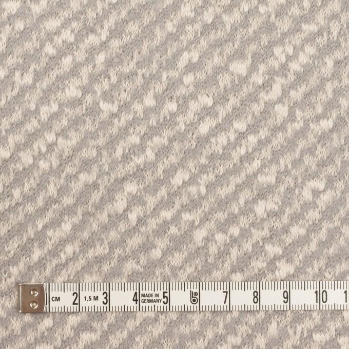 コットン&ウール×ミックス(ミルク&グレー)×ジャガードニット イメージ4