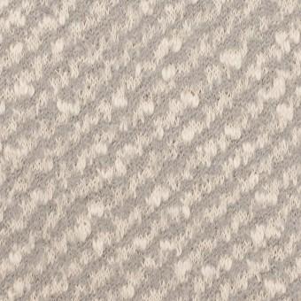 コットン&ウール×ミックス(ミルク&グレー)×ジャガードニット