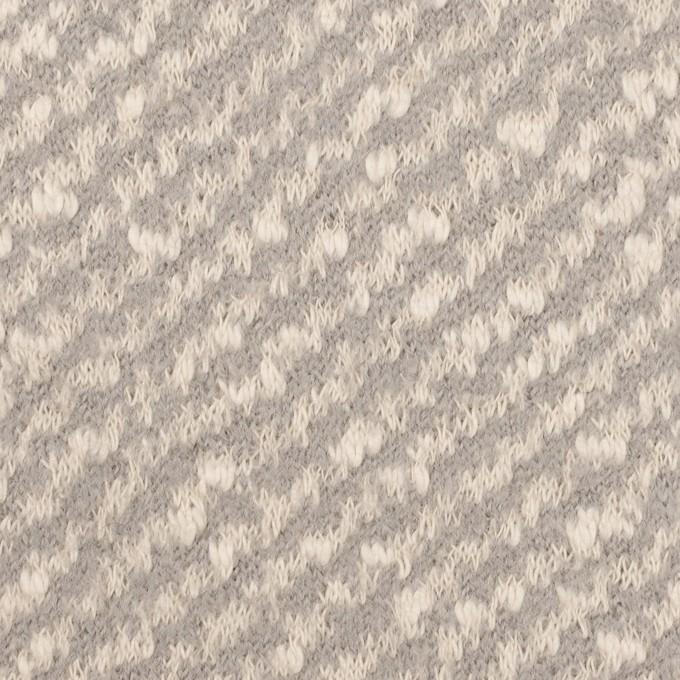 コットン&ウール×ミックス(ミルク&グレー)×ジャガードニット イメージ1