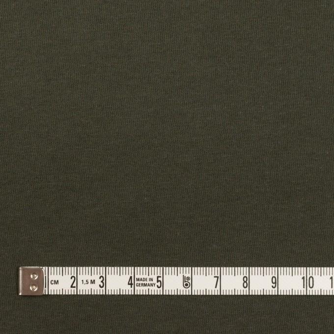 コットン×無地(カーキグリーン)×天竺ニット イメージ4