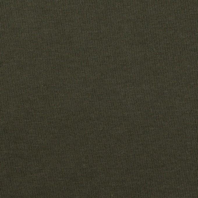 コットン×無地(カーキグリーン)×天竺ニット イメージ1