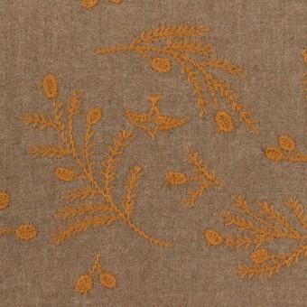 コットン×リーフ(カフェオレ&ハニー)×ビエラ刺繍
