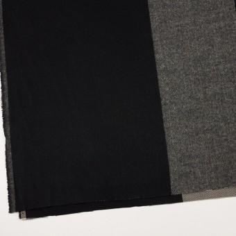 ポリエステル&アクリル混×チェック(グレイッシュベージュ&ブラック)×サージ_パネル_全2色 サムネイル2