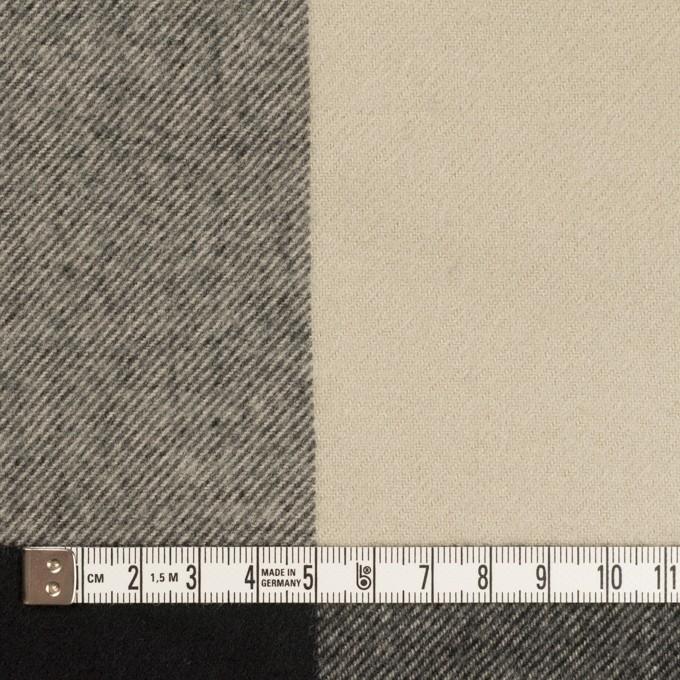 ポリエステル&アクリル混×チェック(グレイッシュベージュ&ブラック)×サージ_パネル_全2色 イメージ4