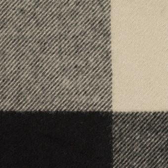 ポリエステル&アクリル混×チェック(グレイッシュベージュ&ブラック)×サージ_パネル_全2色