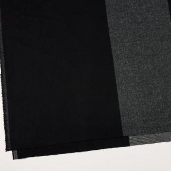 ポリエステル&アクリル混×チェック(スレートグレー&ブラック)×サージ_パネル_全2色 サムネイル2