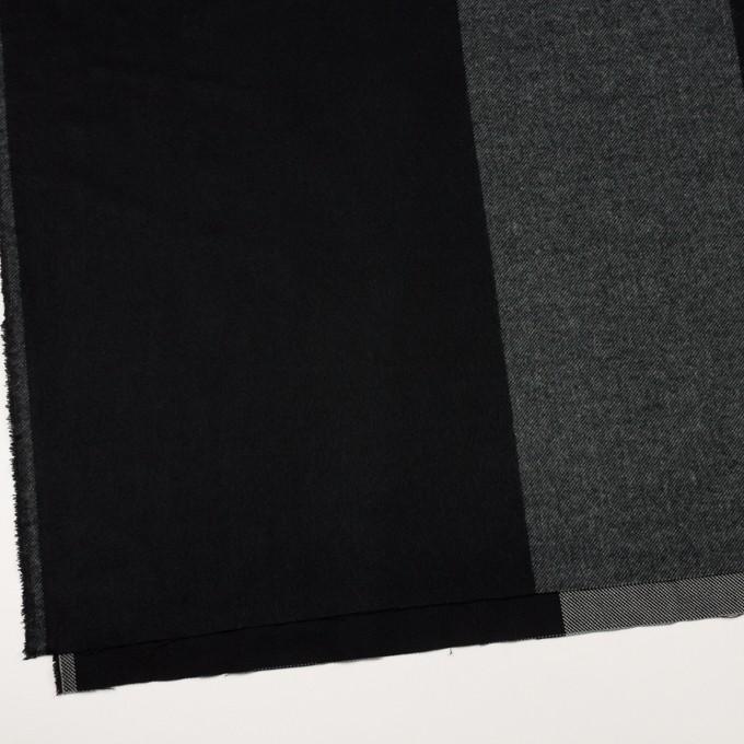 ポリエステル&アクリル混×チェック(スレートグレー&ブラック)×サージ_パネル_全2色 イメージ2