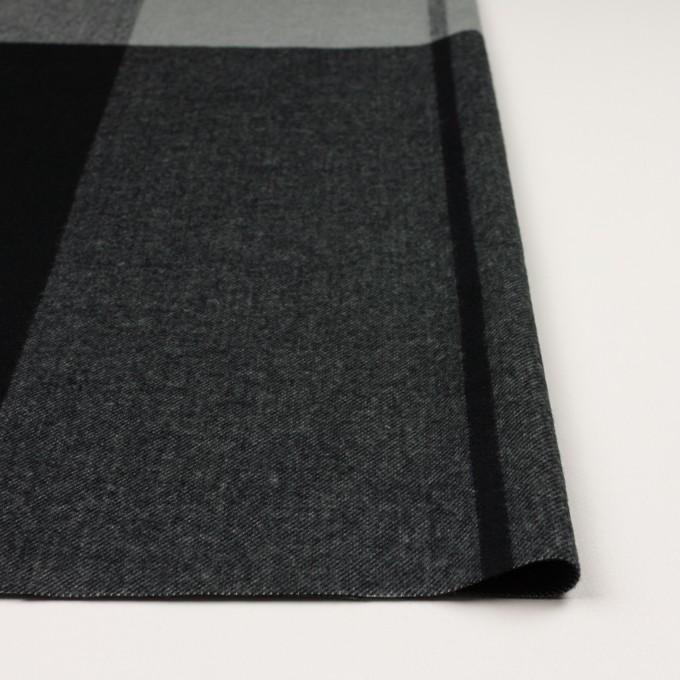 ポリエステル&アクリル混×チェック(スレートグレー&ブラック)×サージ_パネル_全2色 イメージ3